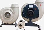 Fume extraction fans are developed to handle heavy corrosive fumes, vapours, contaminated air and aggressive gases